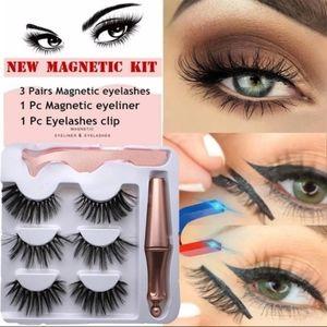 Magnetic eyelashes mink hair mix set of 3 pairs